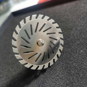 Image 3 - Disque de coupe Zigzag Double face de diamant de laboratoire dentaire pour loutil de laboratoire dentaire de roue de disque de plâtre de coupe dentaire