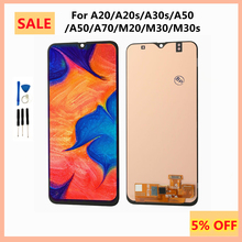 High Quality OLED Touch Screen with Frame for Samsung Galaxy A20S A30S A50S A70 M20 M30 M31 LCD Screen Display Assembly M21