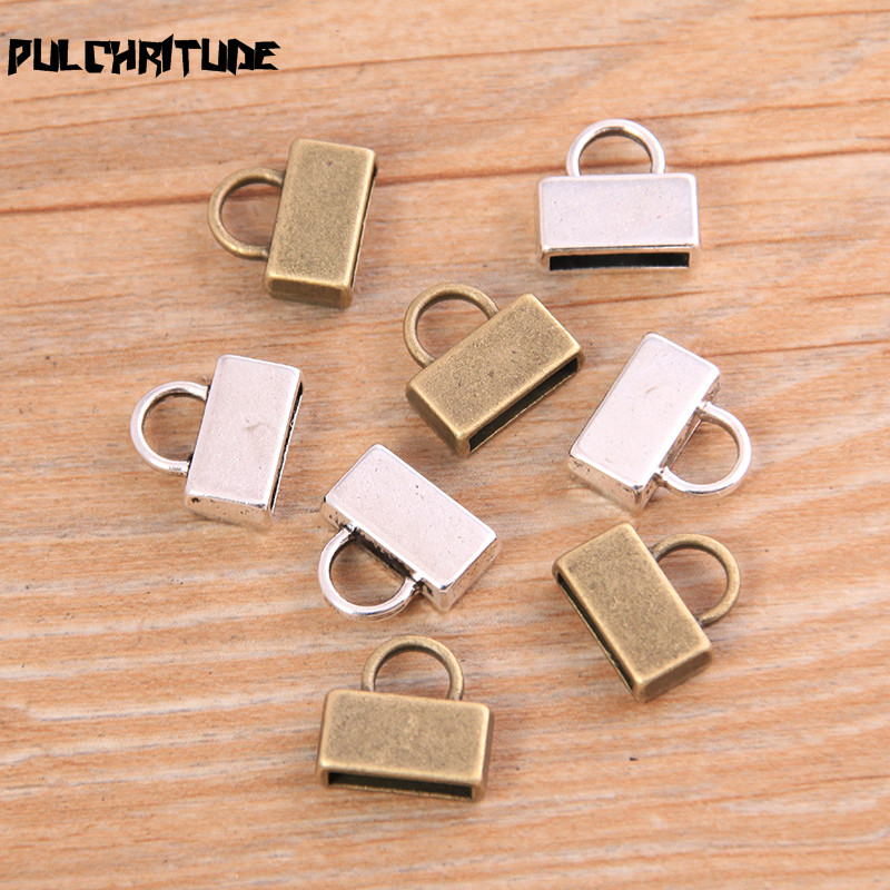 PULCHRITUDE 10pcs 4*12*13mm Two Color Blank Cabochon Setting Diy Bracelet Making Accessorie Supplies For 10mm Leather