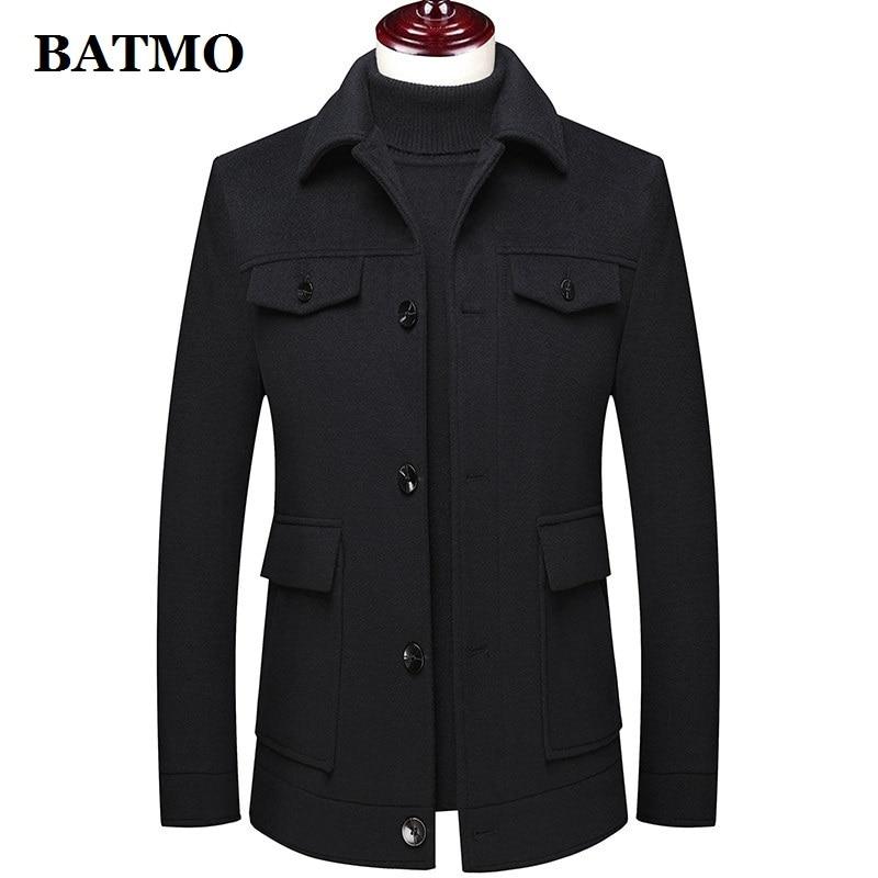 BATMO 2020 new arrival autumn&winter high quality wool casual jackets men,men's wool coat,plus-size M-4XL M72001
