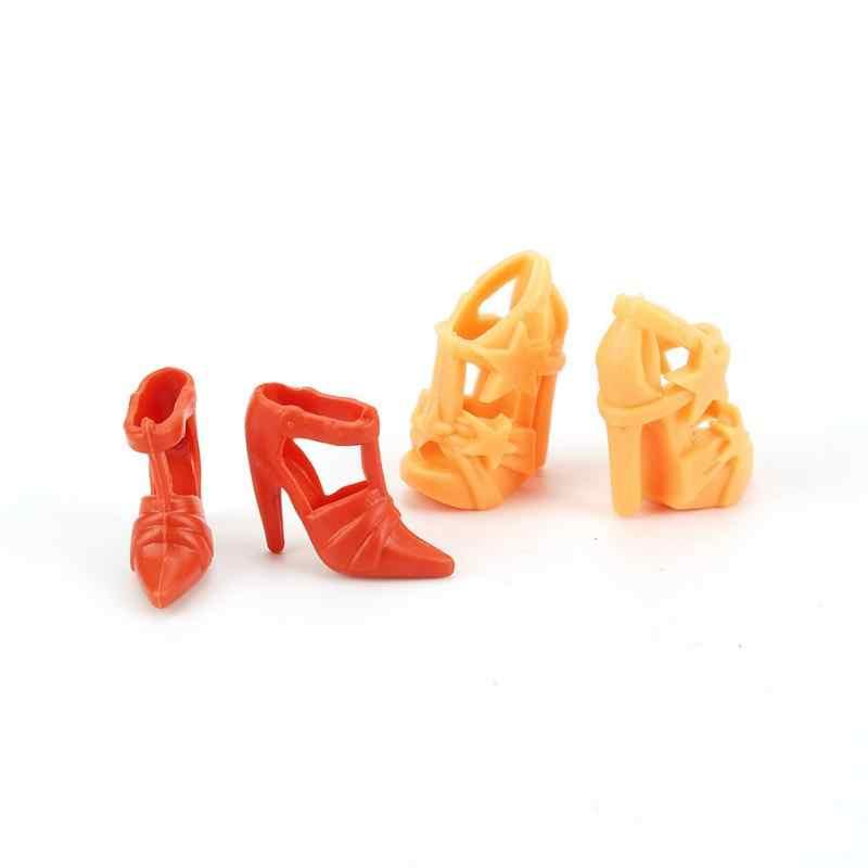 10 Đôi Giày Búp Bê Phối Phong Cách Cao Gót Giày Nhiều Màu Sắc Các Loại Giày Phụ Kiện Đi Kèm Búp Bê Bé Xmas DIY đồ Chơi