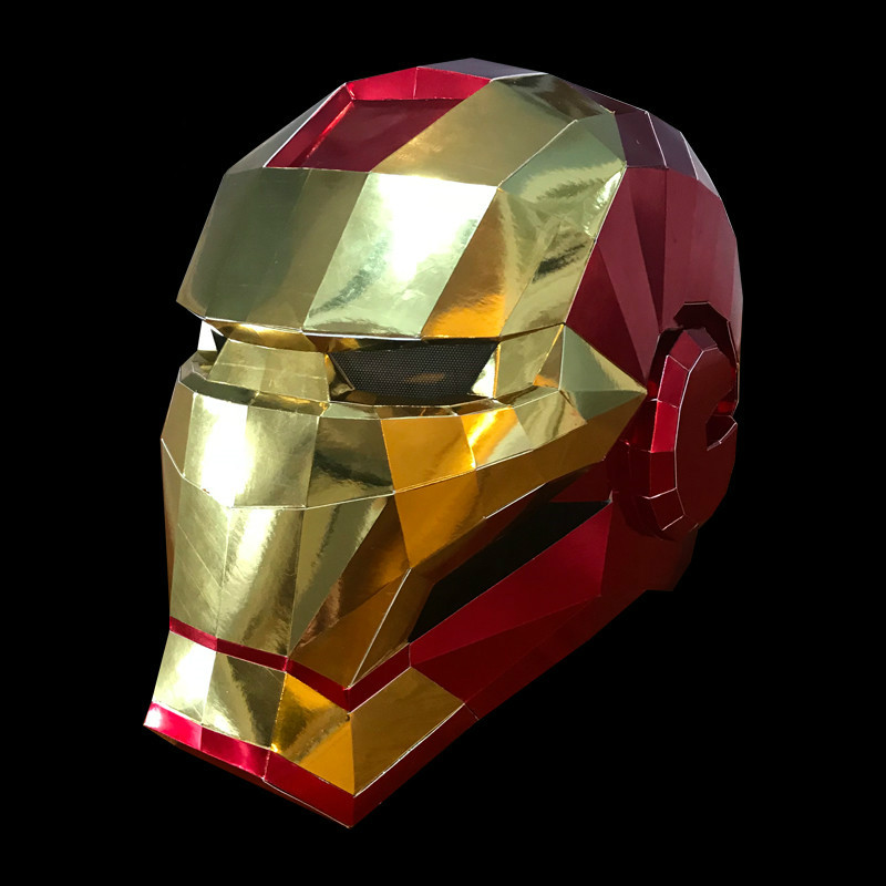 Halloween Adult DIY Paper Mask The Avengers Iron Man Thanos Role-playing Props MK50 Cut Headgear Mask Gift