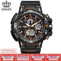 SMAEL deporte reloj hombres 2021 reloj hombre LED cuarzo Digital relojes de los hombres de la marca de lujo de reloj-Digital Reloj Masculino