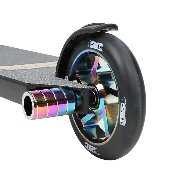 "Neochrome Stunt Scooter Pegs Set with Axle Hardware 2.5"", 3.0"",3.5"" for Freestyle Scooter Grinds"