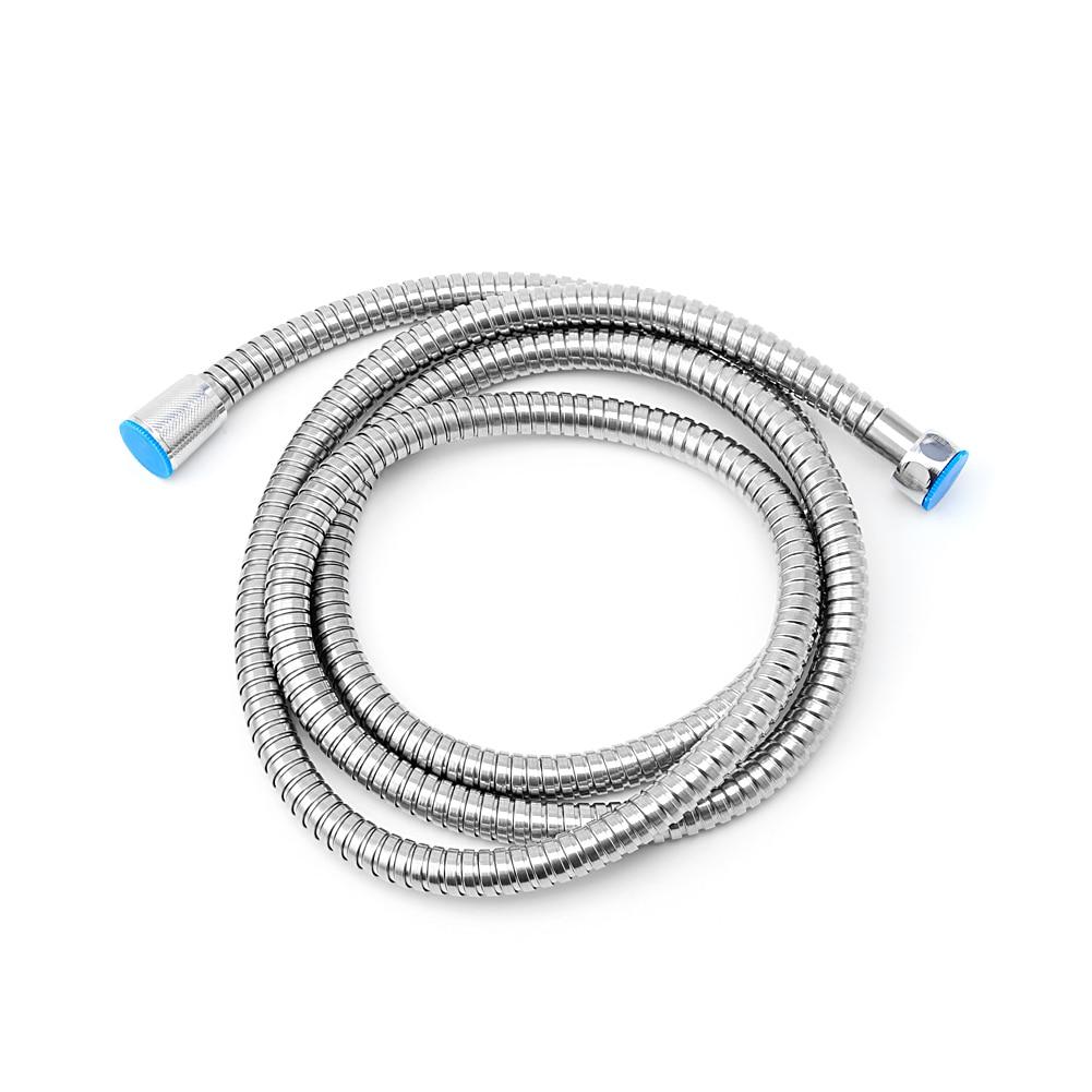 1.5m//2m//3m Stainless Steel Flexible Shower Hose Bathroom Heater Water Head Pipe