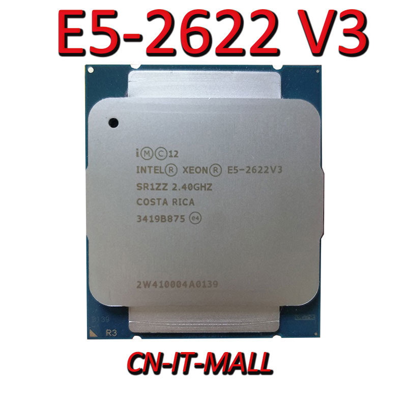 Pulled Xeon E5 2622 V3 Server cpu 2.4G 20M 8Core 16 Thread LGA2011 3 Processor Computer Cables & Connectors  - AliExpress