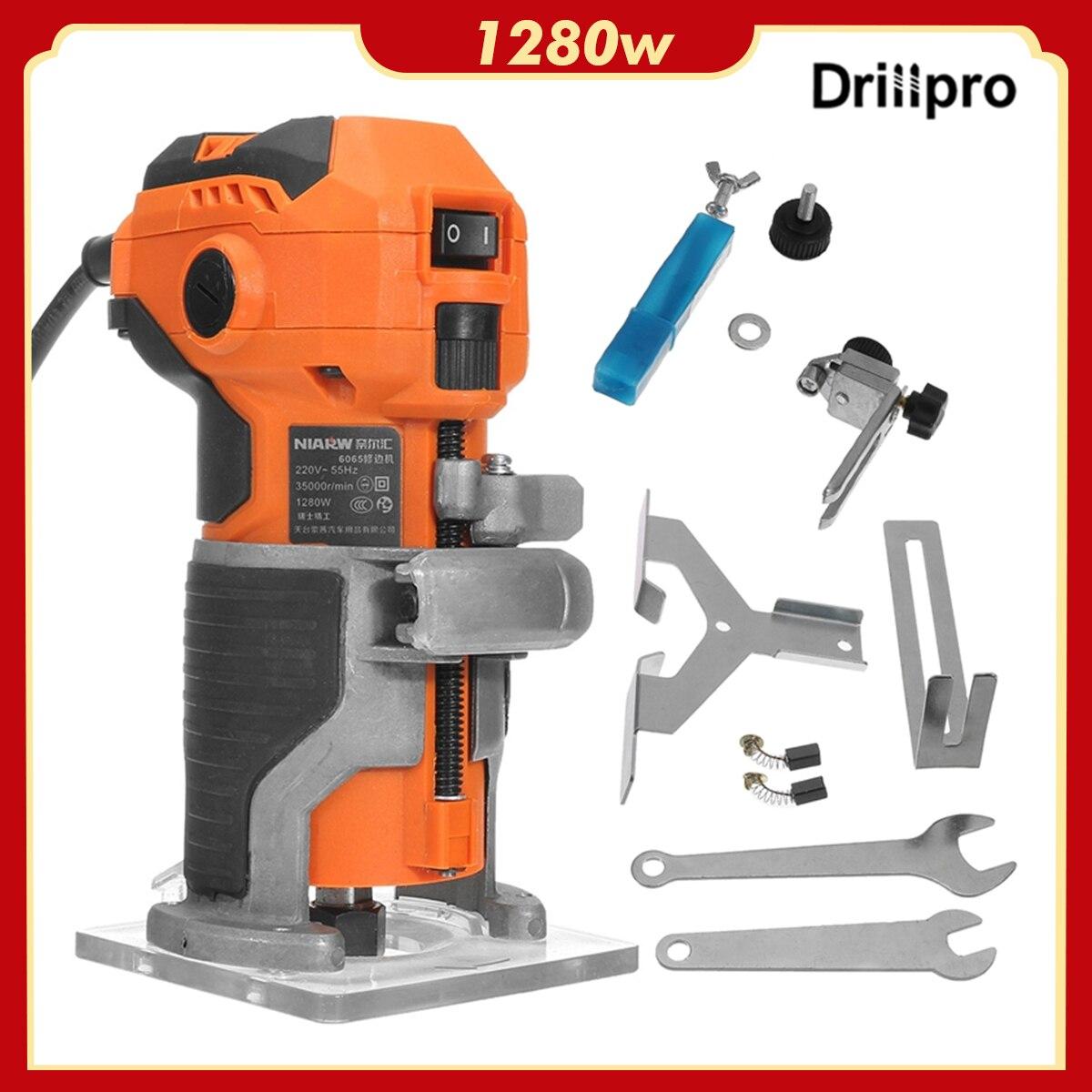 220V elektryczny trymer 1280W 35000r/min drewna trymer Electro Tools Router frezarka do drewna dla stolarzy Renovator obróbki drewna