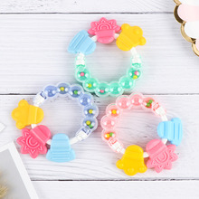 Cartoon Baby Teether Educational Toys Teeth Cute Handbell Rattle Toy Bed Bell Silicone Hand Jingle for Kids