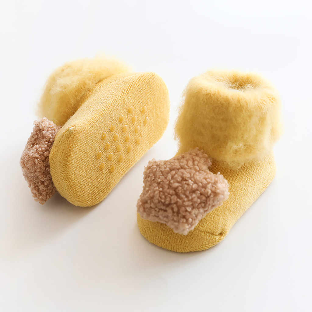 Fashion Baby Socks For Boy Girl Hot Sale Winter Warm Socks Cute Cotton Children Floor Socks Anti-Slip Baby Step Socks Shoes