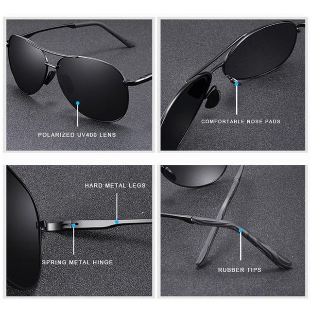 Metro Vintage Pilot Sunglasses 3