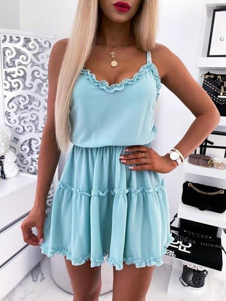 Elegant V-Neck Sleeveless Party Dress Women 2020 Summer Casual Loose Mini Dress Ladies Solid Color Short Pleated Dress Vestidos