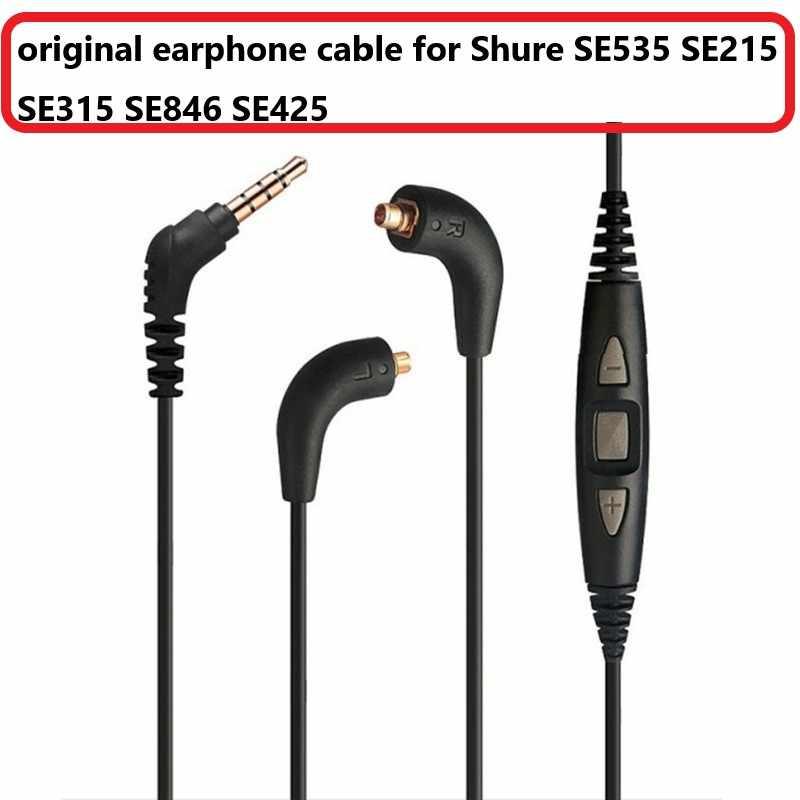 Wymiana naprawa słuchawki kabel do Shure SE535 SE215 SE315 SE846 SE425 słuchawki oryginalny kabel z mikrofonem dla IPhone ipoda