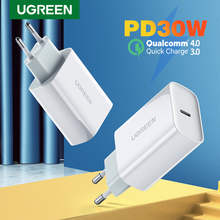 UGREEN 30W PD Charger  for iPhone 12 X Xs 8 Macbook USB Type C Fast Charger Phone QC3.0 USB C Quick Charge 4.0 3.0 QC PD Charger