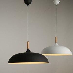 Image 5 - 現代の垂れ天井ランプ木材アルミ E27 イタリアペンダントライト、家のダイニングルームの装飾照明