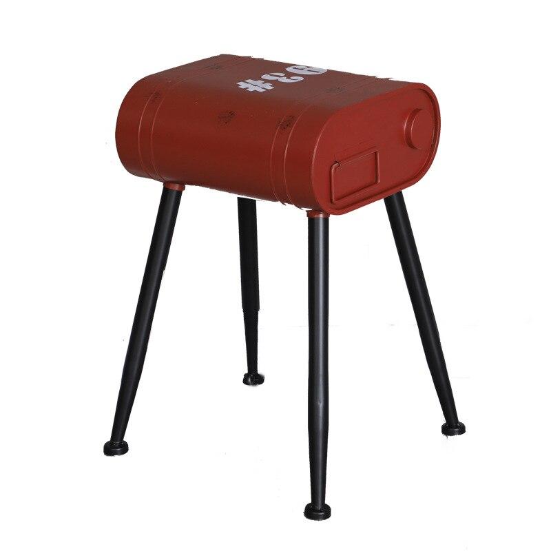 Vintage Loft Gasoline Bucket Metal Stools Restaurant Bedroom Dining Chairs Petrol Barrel Chair Industrial Decor Bar Small Stool