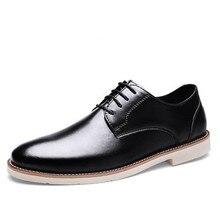 Chaussure homme cuir britannique acheté hiver jeunesse affaires loisirs chaussure