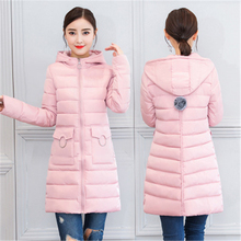 Thick Warm Hooded Long Down Parkas Women Down Jacket Winter Coat Cotton Padded Jacket Woman Winter Jacket Coat Female New 2019 цена 2017