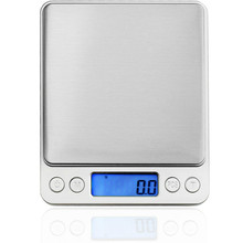 2000g/0.1g Digital Kitchen Scale Cooking Measure Tools Stainless Steel Electronic Weight LCD Bench Food Jewelry