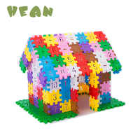4 bag Building Blocks Colorful Math Toys For Kids Game Educational Learning Math square Block Builing Houes children family toy