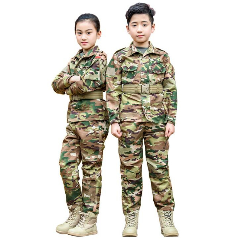 frog New Tactical Scounts uniforms/ Kids tactical multicam uniforms/ Kids frog suit set CP/ Teenager CP military suits