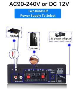 Image 5 - kinter T2 Hifi Car Amplifier Audio 2.0CH 20W stereo sound for bluetooth USB TF input FM radio supply power AC220V DC 12V black
