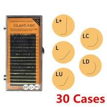Ресницы для наращивания l/l +/lc/ld/lu(m)/n 30 коробок 16 рядов
