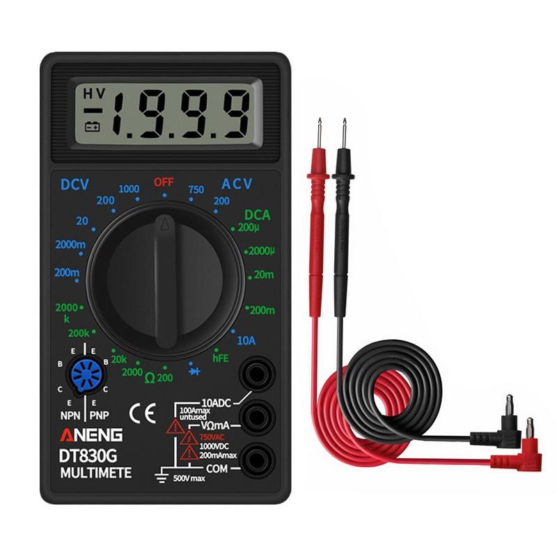 DT830 Digital Multimeter Voltmeter Ammeter Ohmmeter DC10V~1000V 10A AC 750V  Current Tester Test LCD Display
