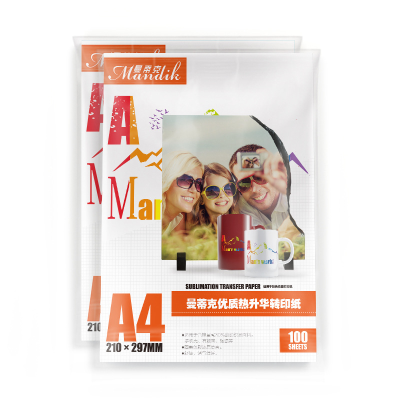 100 Sheets/pack A3 A4 100 Ink-jet Sublimation Thermal Transfer Photo T-shirt Paper Cooking Glass Thermal Transfer Paper Inkjet