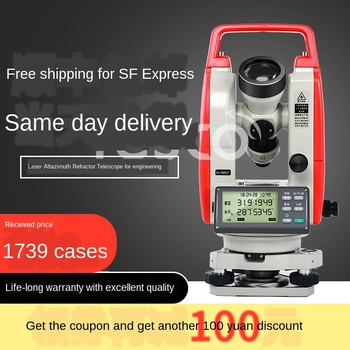 цена на Electronic theodolite genuine surveying instrument upper and lower laser alignment high precision measuring instrument warranty