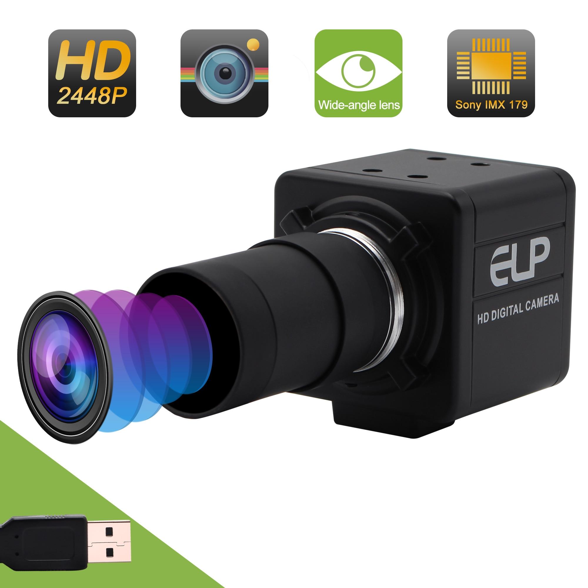 8.0MP HD USB Webcam CS-mount Microscope Camera Mini Free Driver Digital Industry USB Camera with 2.8-12mm Manual  Varifocal Lens