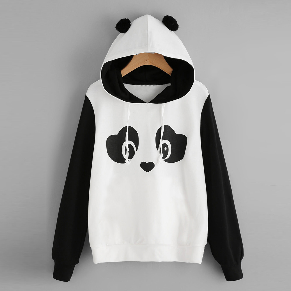Streetwear Hoodies Sweatshirt Women Fashion Clothes Womens Autumn Winter Panda Cartoon Sweatshirt Hooded Pullover Streetwear