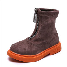 New 2019 Winter Kids Boots Baby Girls Autumn Pink Zip Brand Ankle Boots Children Soft Casual Dress Shoes Girls warm shoes new children martin boots autumn zip ankle boots girls toddler cotton shoes winter kids snow boots student shoes baby 04