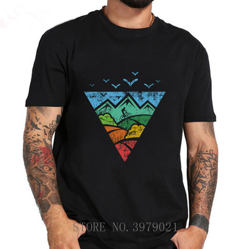 2018 Fashion Men T Shirt Creator Mountain Biking MTB Shirt With Downhill Uphill Freeride T-Shirts Man Custome Shirt Tops Tees