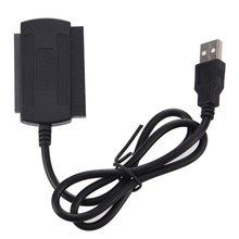 3 in 1 USB 2,0 zu IDE SATA 2.5/3.5 ''Festplatte HD HDD Adapter Konverter Kabel Schwarz(China)