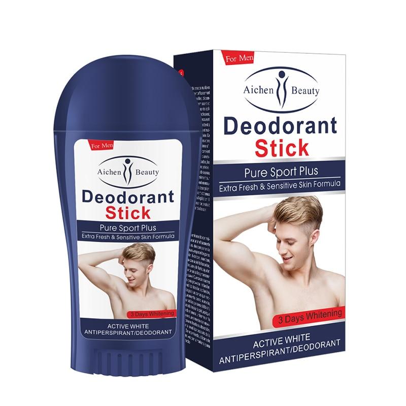 1pcs Deodorant Men's Body Lotion Pure Non-Toxic Natural Antiperspirant Refreshing Body Odor Deodorant Body Underarm Odor Cream