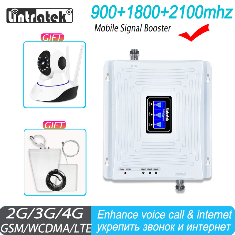 GSM Repeater 4G Signal Booster Cellular GSM 2G 3G 4G Signal Booster Mobile Network  900 1800 2100 Booster GSM Signal Repeater