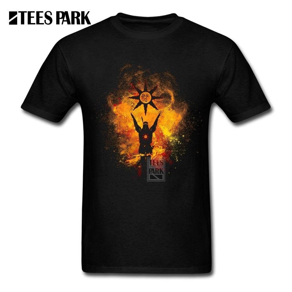 T Shirt âmes foncées 2 Artorias de l'abîme Solaire d'astora eloge du soleil hauts coton manches courtes T-Shirt imprimé homme Tee Shirt
