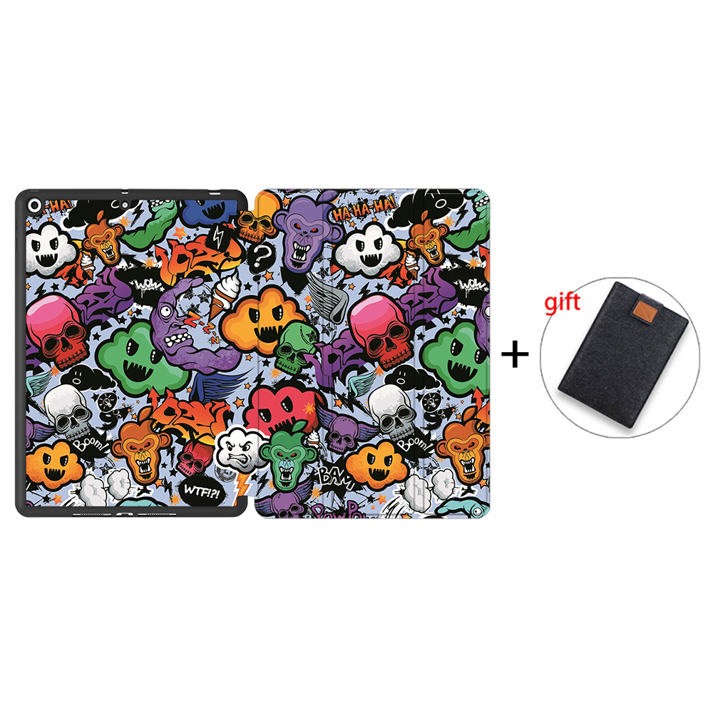 IPBC08 Gray MTT Tablet Case For iPad 10 2 inch 7th 8th Generation 2020 Soft TPU PU Leather