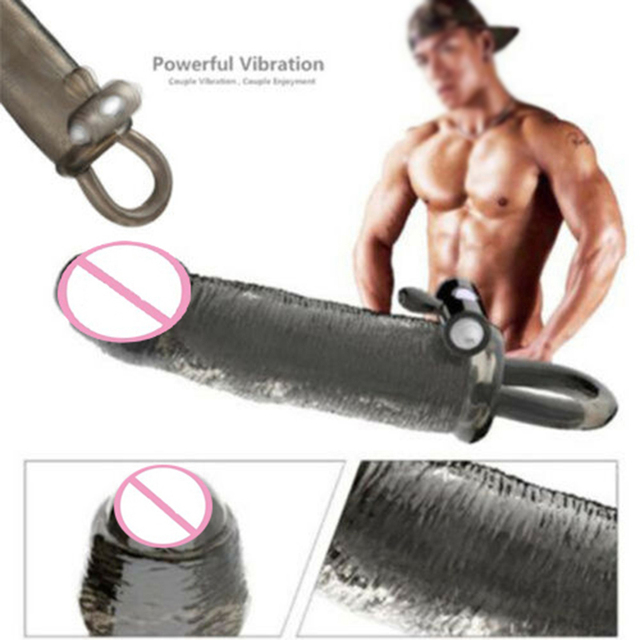 Silicone Vibrating Cock Sleeve