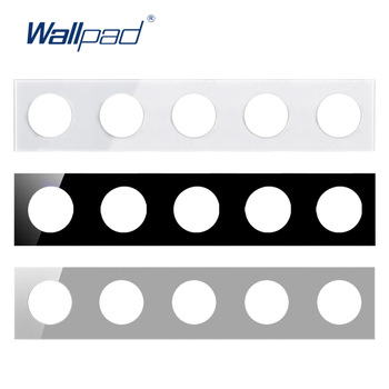 Wallpad 5 Tempered Glass Panel Only 430*86mm White And Black Round Circle