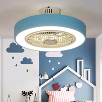 220V Macaron Fan ceiling with remote control dimming 19 inch cute fan lamp for girl bedroom ventilador de techo