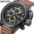 Спортивные мужские часы MEGIR  водонепроницаемые  многофункциональные  кварцевые часы  Relogio Masculino