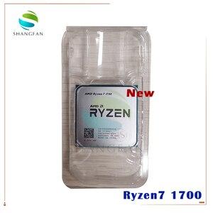 Image 1 - חדש AMD Ryzen 7 1700 R7 1700 3.0 GHz שמונה ליבות שש עשרה חוט מעבד מעבד 65W YD1700BBM88AE שקע AM4