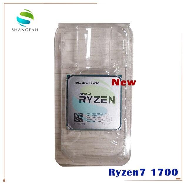 חדש AMD Ryzen 7 1700 R7 1700 3.0 GHz שמונה ליבות שש עשרה חוט מעבד מעבד 65W YD1700BBM88AE שקע AM4