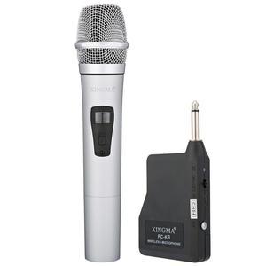 Image 1 - VHF ميكروفون لاسلكي محمول باليد ، سبائك الألومنيوم ، للكاريوكي ، الكمبيوتر ، الغناء ، KTV مع جهاز الاستقبال