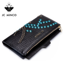Purse Wallet Clutch Passport-Holder Women Fold Fashion Long Eyelet Coin Bi Female Ladies