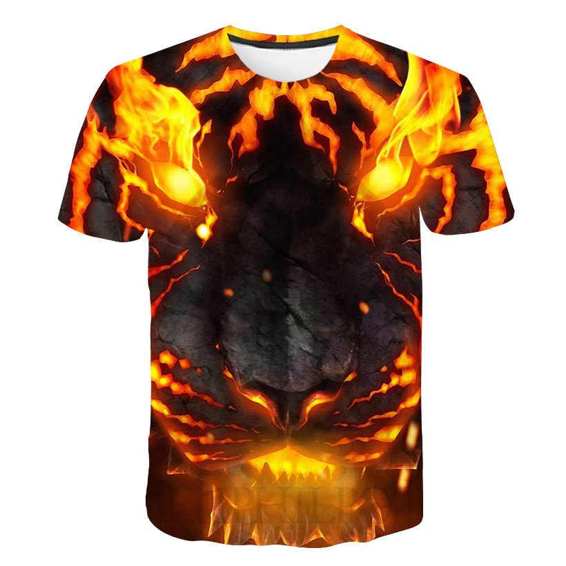 グローイング鹿動物 3 d 印刷男子供半袖 tシャツ原宿/鹿 tシャツ s-6 xl 一般的なコード番号