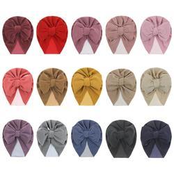 15 шт./лот, бархатная Детская шапка-тюрбан для новорожденных, Bebe, шапочка, топ с бантиком, реквизит для фотосессии, мягкая велюровая шапка