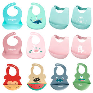 Baby Bibs Waterproof Silicone Feeding Baby Saliva Towel Newborn Cartoon Aprons Baby Bibs Adjustable Different styles of Bibs