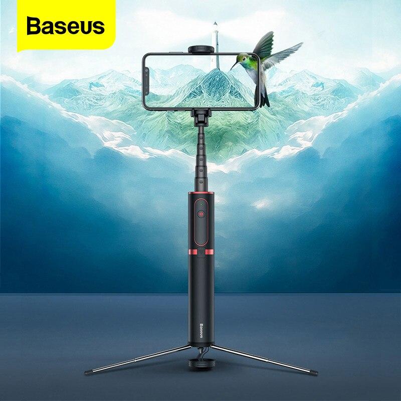 Baseus Bluetooth Selfie Stick Wireless Remote Selfiestick Stativ Handheld Erweiterbar Einbein Für iPhone Samsung Huawei Android